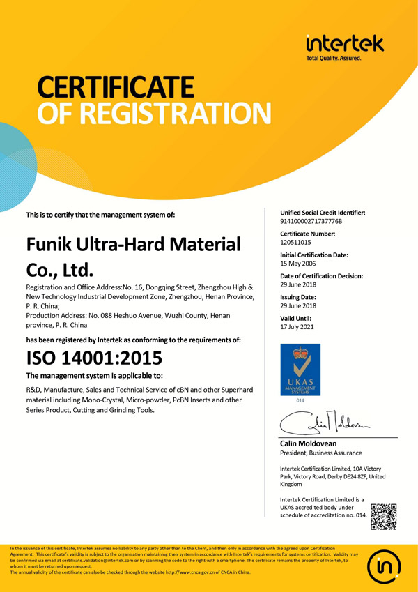 Funik Ultrahard Material Co., Ltd.